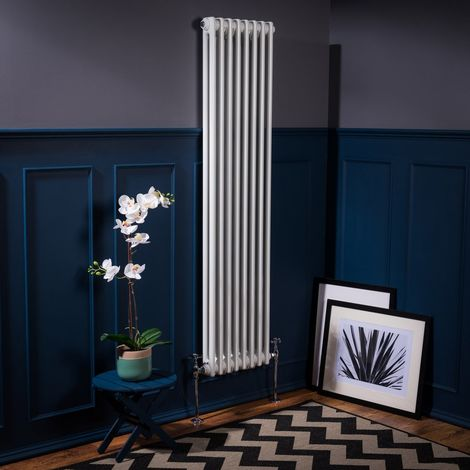 Bern 1500 x 380mm White Double Vertical Column Radiator