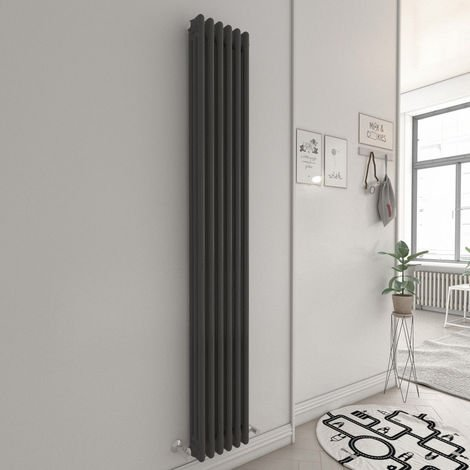 Bern 1800 x 290mm Anthracite Triple Vertical Column Radiator