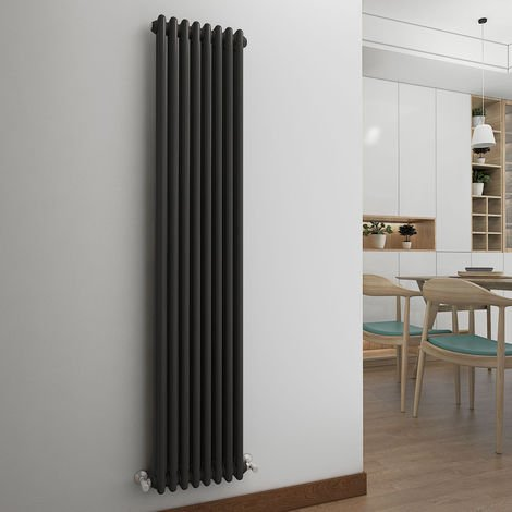 Bern 1815 x 380mm Anthracite Double Vertical Column Radiator