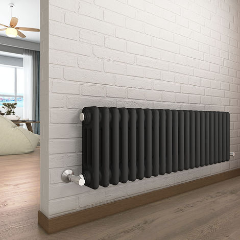 Bern 300 x 1010mm Anthracite Triple Horizontal Column Radiator