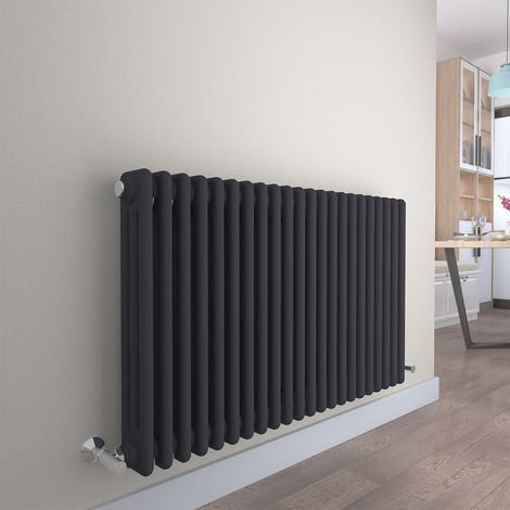 Bern 600 x 1010mm Anthracite Triple Horizontal Column Radiator