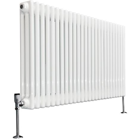 Bern 600 x 1190mm White Triple Horizontal Column Radiator