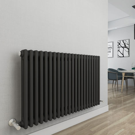 Bern 615 x 1010mm Anthracite Double Horizontal Column Radiator