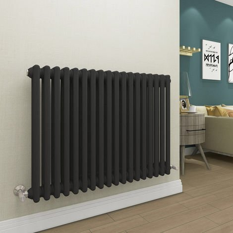 Bern 615 x 830mm Anthracite Double Horizontal Column Radiator