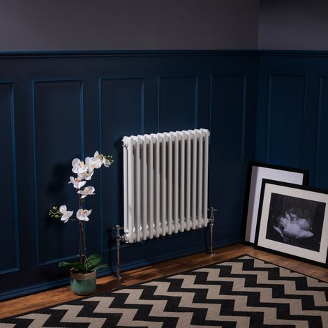 Bern White Double or Triple Horizontal and Vertical Column Radiator
