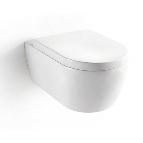 Design Wand WC Tiefspüler mit Soft Close WC Sitz Hänge WC weiss Marken Produkt