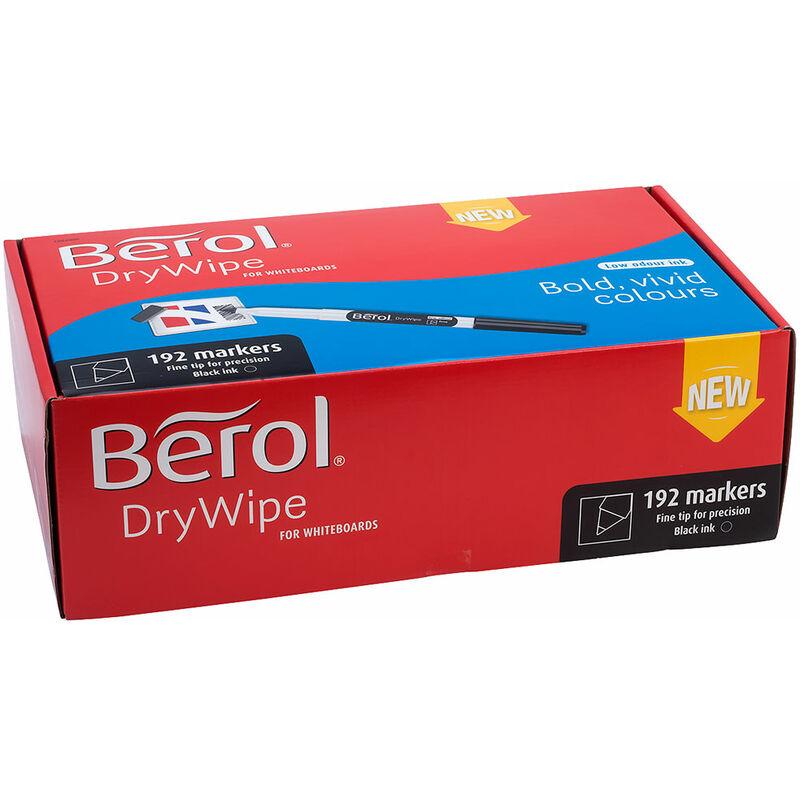 Image of Berol Dry Wipe Pen Fine Tip Black Box of 192