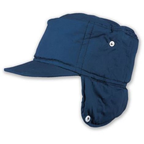 doppio coupon gamma completa di articoli stili classici berretto cappello poliestere invernale con paraorecchie imbottito blu