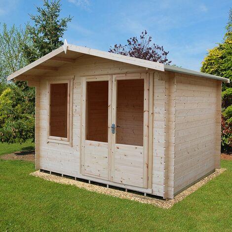 Berryfield Log Cabin Home Office Garden Room Approx 11 x 8 Feet