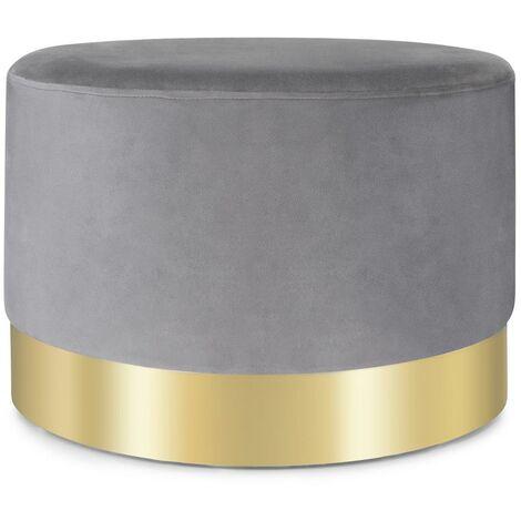 Besoa Bella Upholstered Stool 35x50cm (HxØ) Velvet Grey