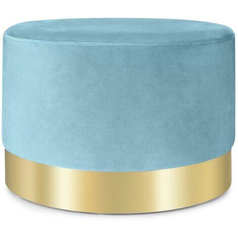 Besoa Bella Upholstered Stool 35x50cm (HxØ) Velvet Petrol