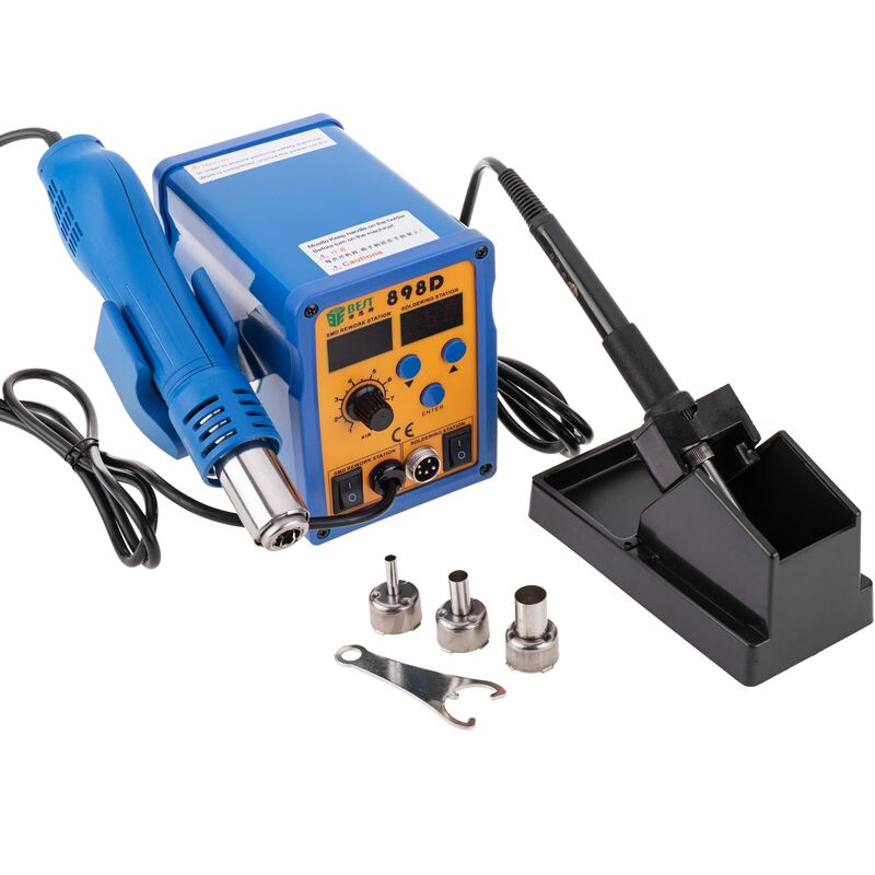 Image of 2-in-1 Soldering Station with Tin Soldering Iron and Hot Air Gun 898D - Best