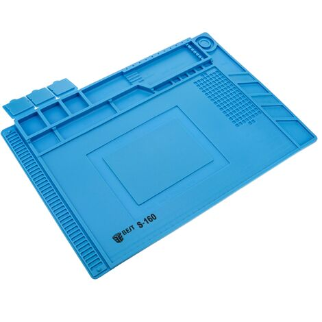 Best - Workbench pad desktop sylicon work surface for welding station antistatic soldering mat 454x298mm