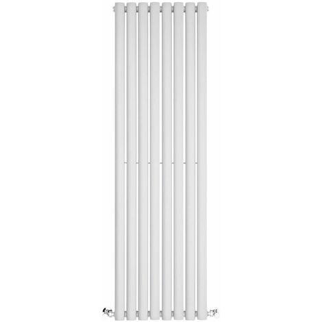 Bianco 260 x 1800 mm ECD Germany Radiatore Termosifone Termparredo Scaldasalviette Stella Verticale Piatto Radiatore Scaldasalviette Asciugamani da bagno Verticale Piatto 260x1800 mm