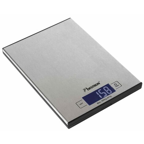 Bestron Balance électronique de cuisine AKS1000S Inox 5 kg