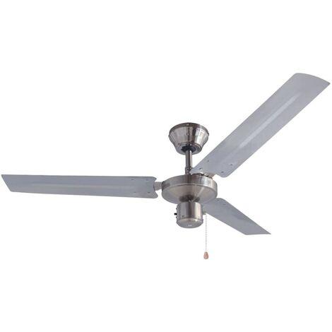 "Bestron Ceiling Fan 122 cm/48"" 60 W Chrome DT48C"