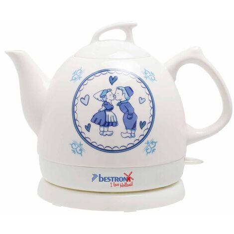 Bestron Keramik-Wasserkocher DTP800H Weiß 0,8 L