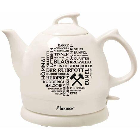Bestron Keramik-Wasserkocher DTP800RP Weiß 0,8 L