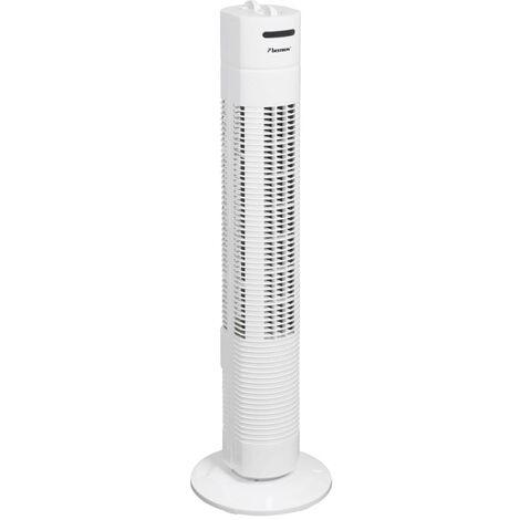 Bestron Ventilateur colonne blanc avec minuterie 75 cm 50 W AFT760W