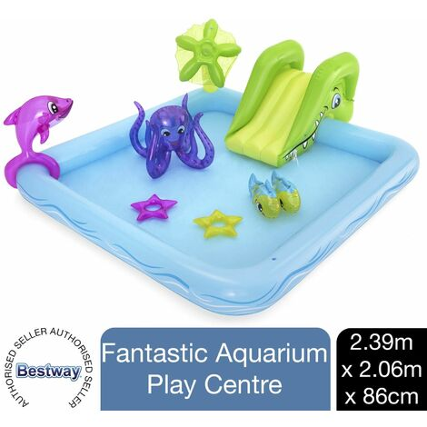 Bestway 239 x 206 x 86 cm Fantastic Aquarium Water Play Center for Kids