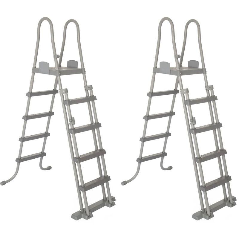 Image of 4-Step Pool Safety Ladders Flowclear 2 pcs 132 cm 58332 - Bestway