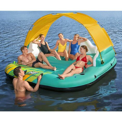 Bestway 5-Person Inflatable Island Sunny Lounge 291x265x83 cm - Multicolour