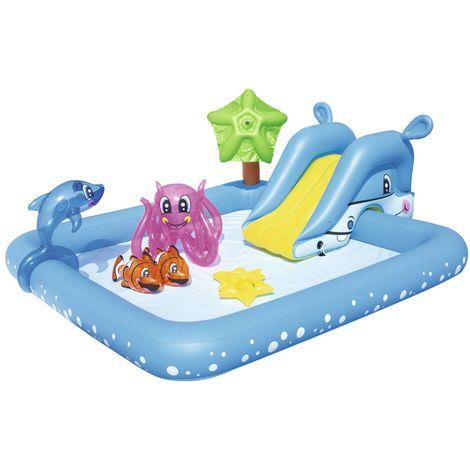 BESTWAY 53052 Pool Kinderpool Planschbecken 239x206 Aquarium Schwimmbad