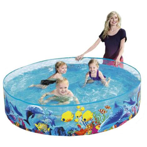 Bestway 55030 FILL 'N FUN Odyssey Pool rund für Kinder 183x38 cm 9875