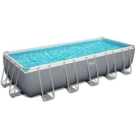 Bestway 5612B Power Steel rechteckiger oberirdischer Pool 640x274x132cm