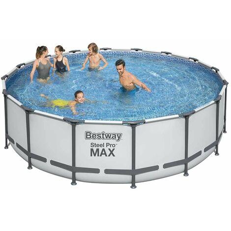 Bestway 5612Z Steel Pro Max runder oberirdischer Pool 488x122cm
