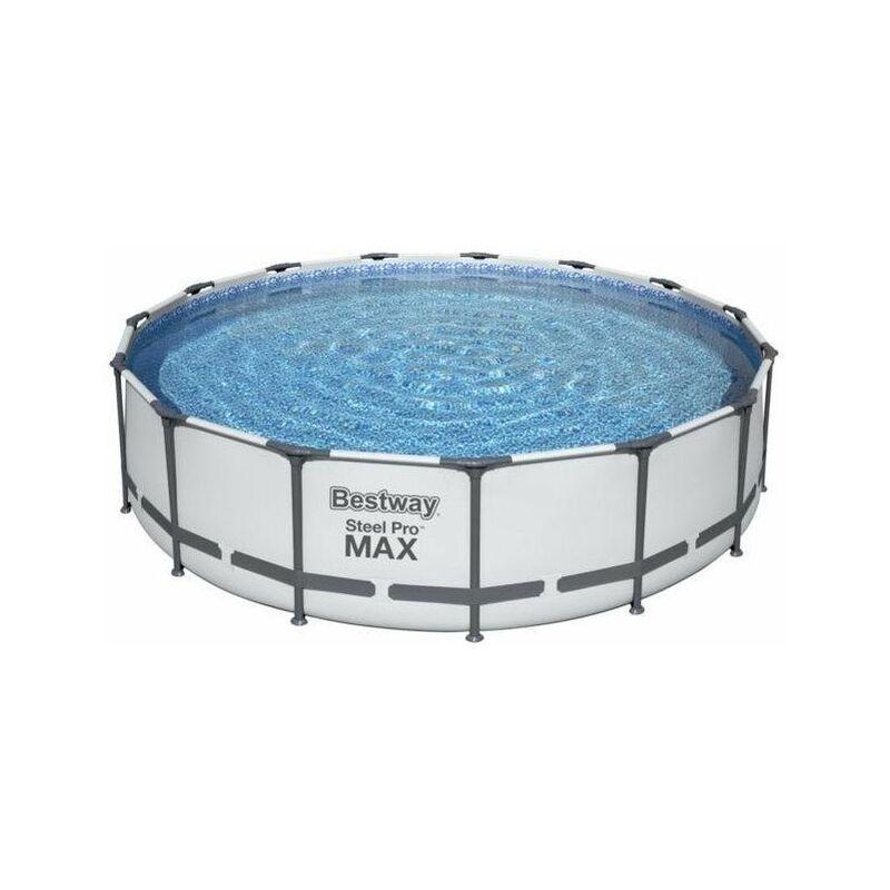 Piscine tubulaire ronde Bestway Steel Pro Max 4,57 x 1,07 - Bleu