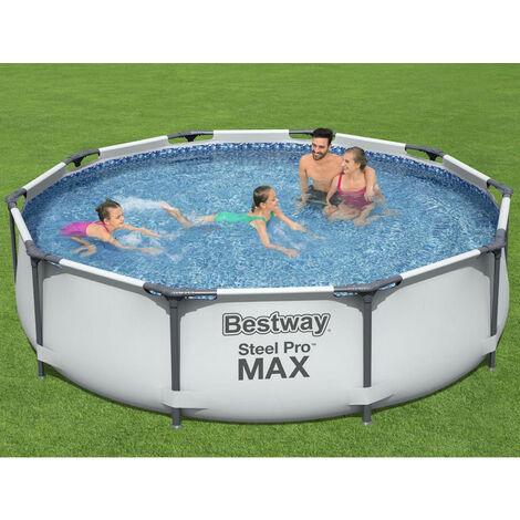 Bestway 56408 Frame Pool Steel Pro Set Schwimmbad 305x76cm Pumpe 1.249 L/h
