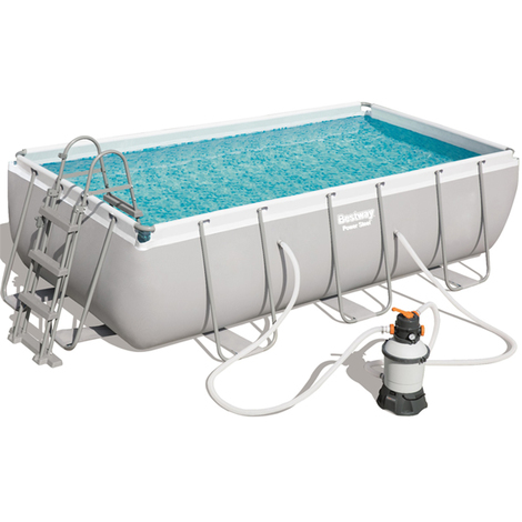 Bestway 56442 Frame Pool Power Steel 404x201x100cm Sandfilterpumpe Leiter