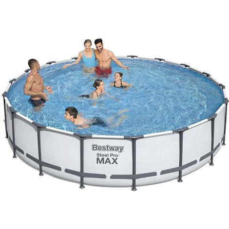 Bestway 56462 Oberirdischer Pool Schwimmbad Rund 549x122cm mit Pumpe