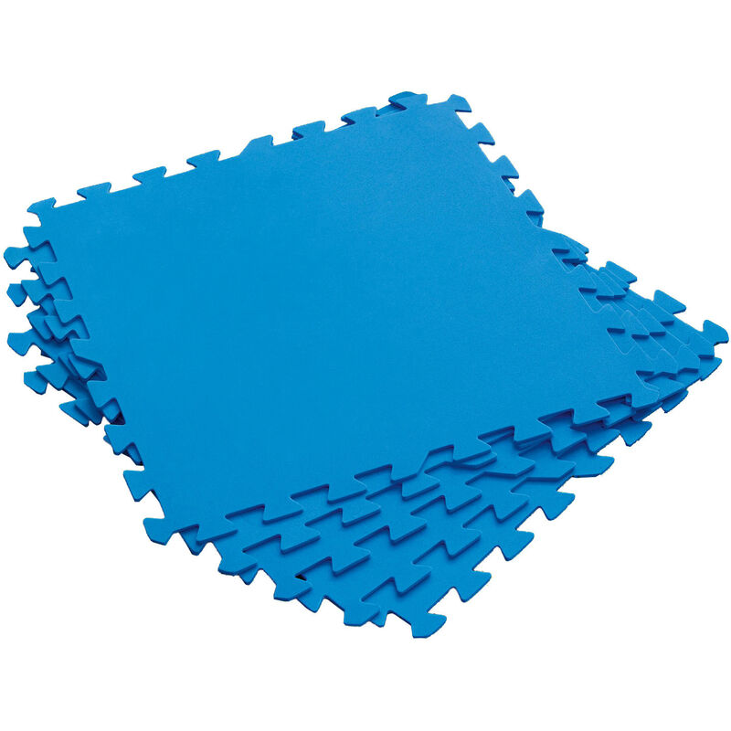 Ac-déco - Tapiz de Suelo de Goma Bestway 9 piezas 50x50 cm Azul