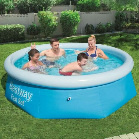 """main image of """"BESTWAY 8FT ROUND PADDLING GARDEN POOL FUN FAMILY SWIMMING OUTDOOR INFLATABLE"""""""