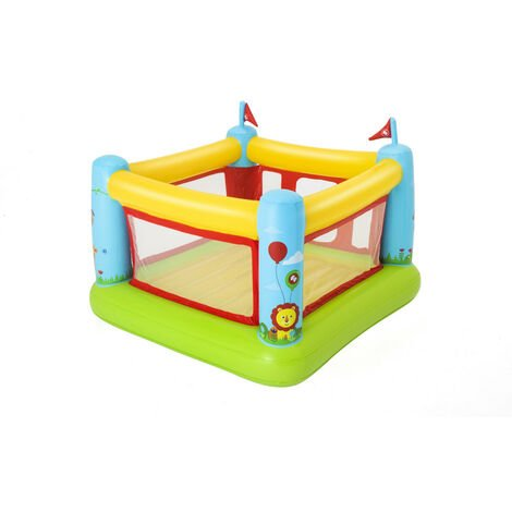 Bestway 93553 trampoline gonflable maison et jardin pour enfants Bouncestatic Fisher-Price