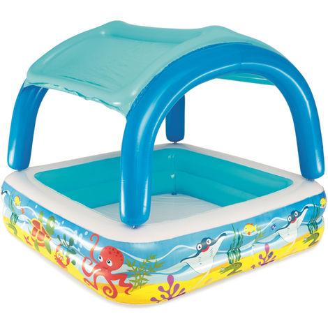 Bestway Aufblasbarer Pool für Kinder mit Sonnendach für Garten/Strand 147x122cm