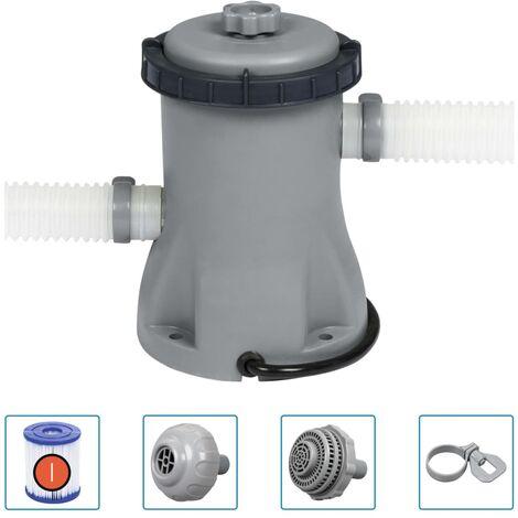 Bestway Bomba de filtro de piscina Flowclear 330 gal - Gris