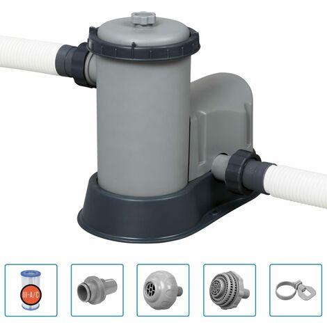 Bestway Bomba de filtro de piscina Flowclear Skimatic 5678 L/h - Gris