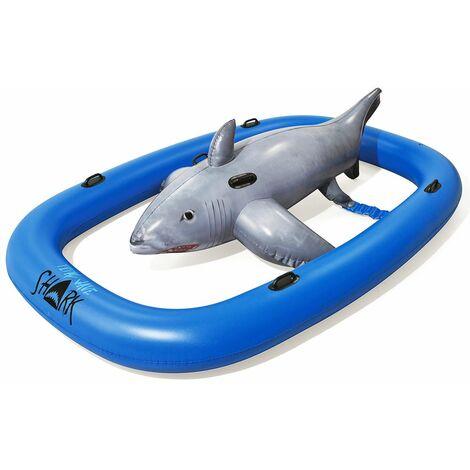 "main image of ""Bestway Bouée gonflable requin XXL animal gonflable piscine plage enfant poignée"""
