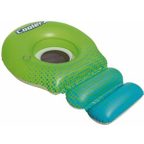 Bestway Bouée gonflable vert bleu avec filet fauteuil gonflable piscine lounge