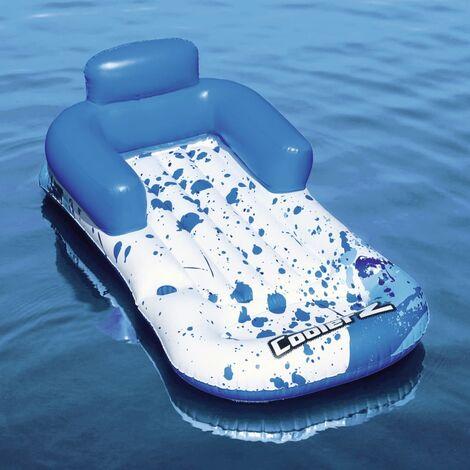 Bestway Chaise longue flottante CoolerZ 84x161 cm Bleu et blanc