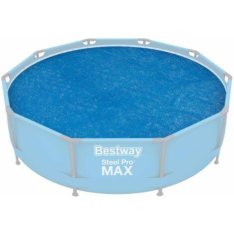 Bestway Cobertor solar para Frame Pool Ø305 cm Lona flotante para protección calentador de piscina