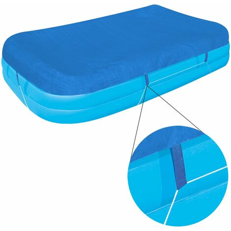 Bestway Cubierta de piscina para Family Pool 262x175x51cm lona protección contra desechos suciedad cobertor