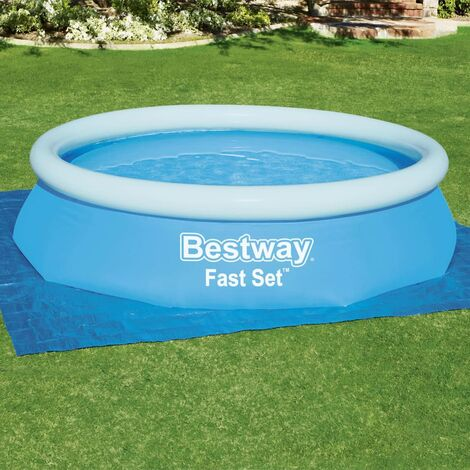 Bestway Cubierta de suelo para piscina Flowclear 335x335 cm - Azul