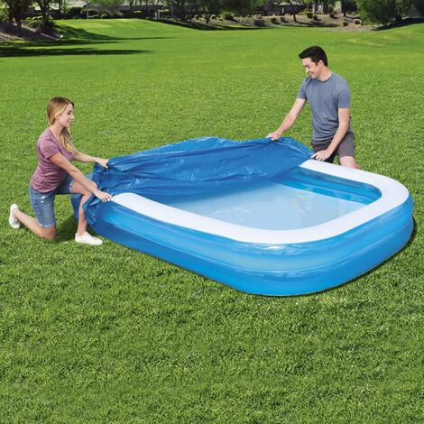 Bestway Cubierta para piscina Flowclear 262x175x51 cm - Azul
