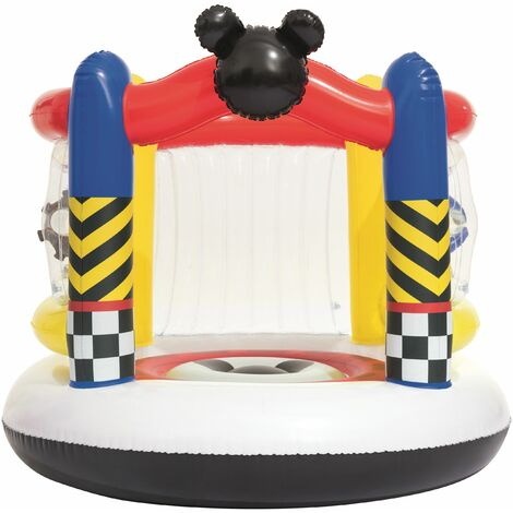 Bestway D. Mickey Roaster Racers Trampoline Gonflable - diamètre 137 h 119 + Acc.
