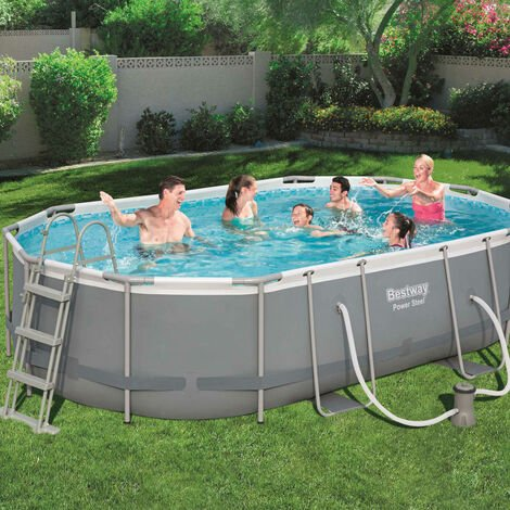 Bestway Ensemble de piscine Power Steel Ovale 488x305x107 cm 56448