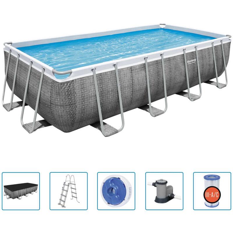 Ensemble de piscine Power Steel Rectangulaire 549x274x122 cm - Bestway